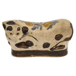 Cizhou Type Glazed Ceramic Headrest, Qing Dynasty