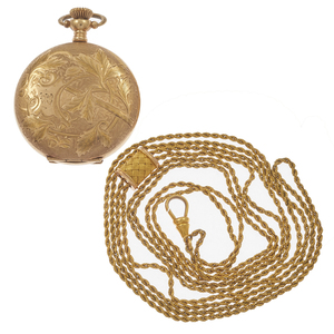 Elgin Gold-Filled Pocket Watch with Chain