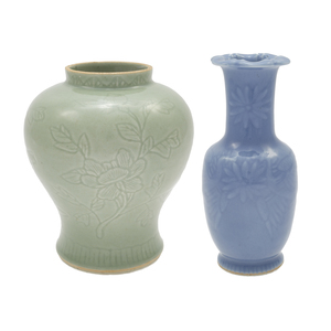 Two Monochrome Glazed Vessels, Late 19th/Early 20th Century