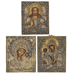 Three Antique Russian Icons