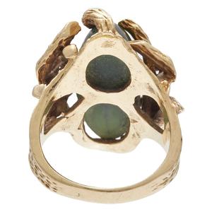 Nephrite, 14k Yellow Gold Ring