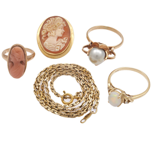 Collection of Five Multi-Stone Jewelry Items