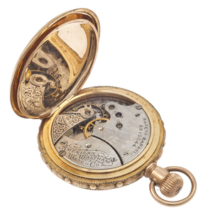 American Waltham Gold-Filled Pocket Watch with 14k Chain
