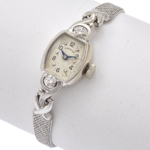 Hamilton Diamond, 14k White Gold, Stainless Steel Wristwatch