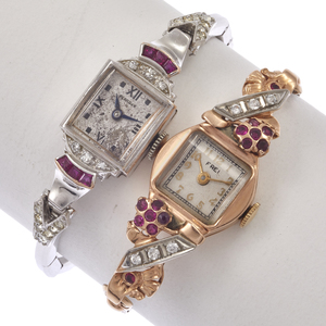 Two Ladies Vintage 14k, Gold-Filled Wristwatches