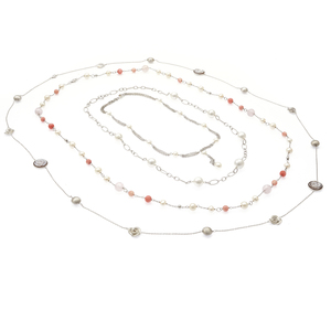 Group of Cultured South Sea, Fresh Water Pearl, Coral, Stone Necklaces