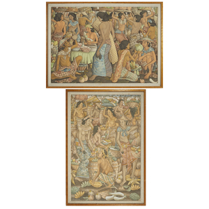 Two Balinese Paintings, 20th Century
