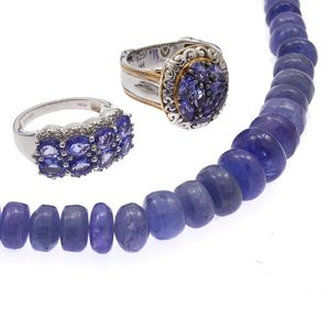 Collection of Tanzanite, Sterling Silver Jewelry