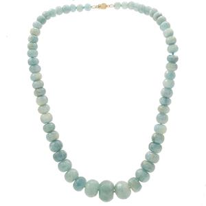 Group of Aquamarine, Chalcedony, Malachite Necklaces