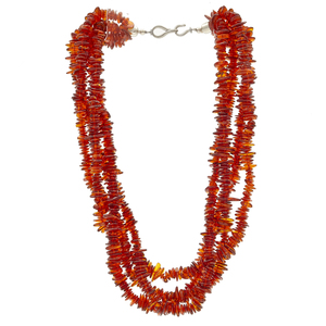 Group of Five Amber Necklaces
