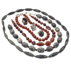 Group of Jasper, Sterling Silver Jewelry