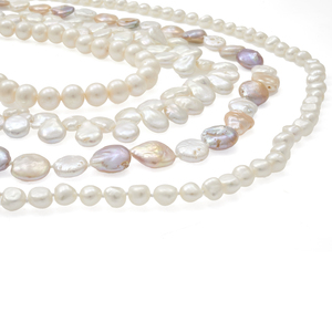 Group of Four Cultured Fresh Water Pearl Necklaces