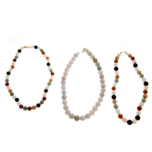 Group of Three Jade Bead Necklaces