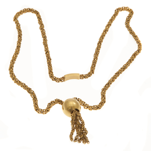 Fancy Link 14k Yellow Gold Necklace