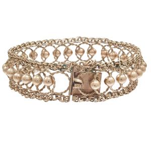 9k Rose Gold Fancy Link Bracelet