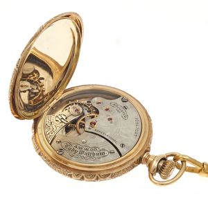 Waltham 14k Multi-Color Gold Hunting Case Pocket Watch