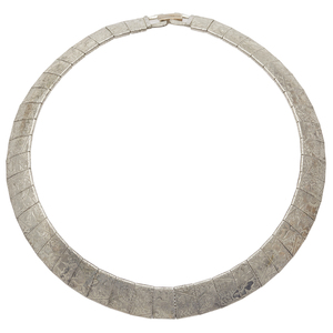 Sterling Silver Articulated Collar Necklace
