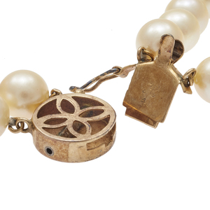 Double Strand Cultured Pearl, 14k Necklace