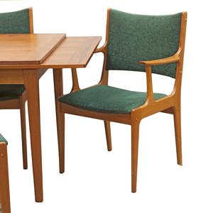 Johannes Andersen Mid Century Danish Teak Chairs and Dyrlund Table