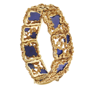Lapis Lazuli, 18k Yellow Gold Bracelet