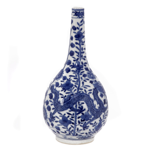 Underglaze Blue Bottle Vase, 19th Century