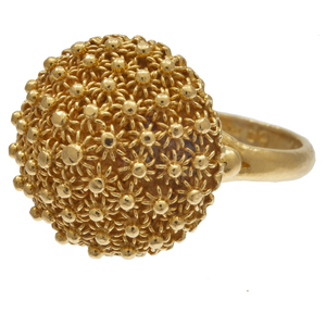 20k Yellow Gold Cannetille Ring