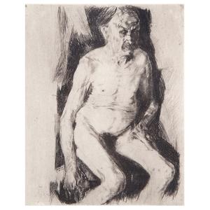 Käthe Schmidt Kollwitz, Seated Male Nude