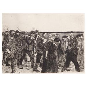 Käthe Schmidt Kollwitz, March of the Weavers