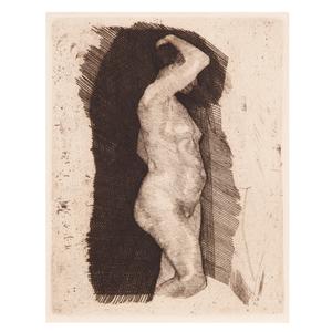 Käthe Schmidt Kollwitz, Standing Female Nude