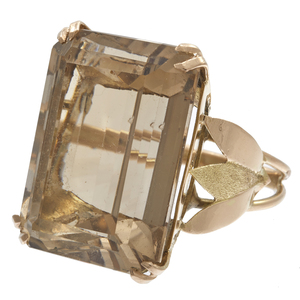 Citrine, 14k Yellow Gold Ring