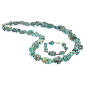 Tumbled Turquoise Necklace and Bracelet