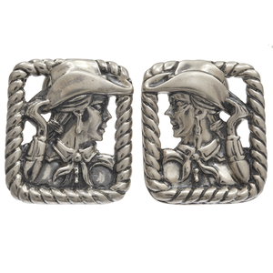 Pair of Kieselstein-Cord Sterling Silver Cowgirl Ear Clips