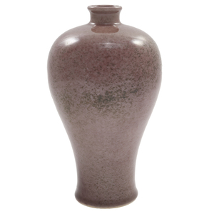 Peach Bloom Glazed Meiping Vase, Xuande Mark