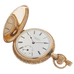 Elgin 14k Rose Gold Hunting Case Pocket Watch