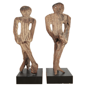 Pair of Large Philippines Wood Figures