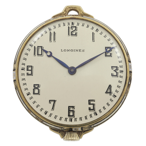 Longines Art Deco Enamel, 14k, Slimline Pocket Watch