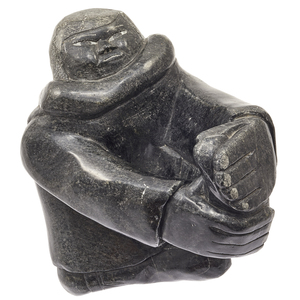 Large Inuit Stone Carving