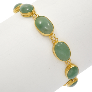 Jade, 18k Yellow Gold Bracelet