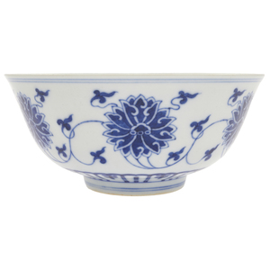 Underglaze Blue 'Lotus' Bowl, Daoguang Mark