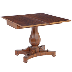 Classical Rosewood Games Table, English or American 19th Century