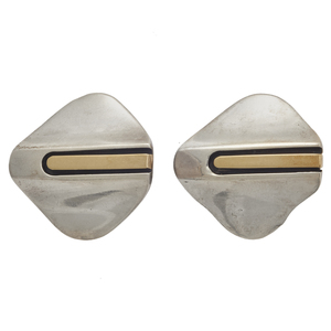 Pair of Cartier 18k, Sterling Silver Ear Clips