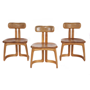Three Contemporary Artisan Chairs, Buechley Woodworking