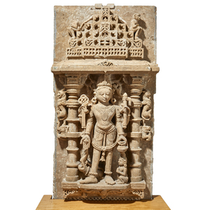 Indian Sandstone Stele of Vishnu, 10th Century