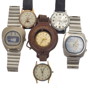 Collection of Six Vintage Wristwatches