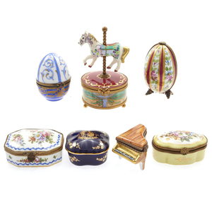 Collection of Limoges Boxes