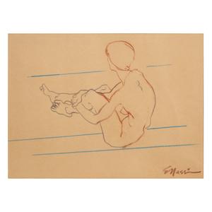 Eugene Massin, Seated Nude
