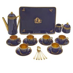 Limoges Porcelain Chocolate Set, for I. Magnin