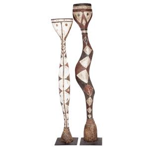 Pair of Baga Snake Sculptures