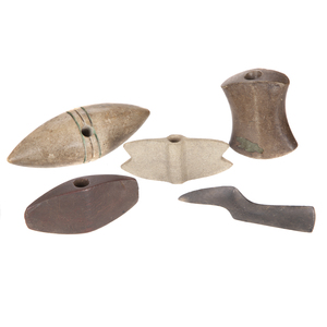 Five Native American Stone Objects