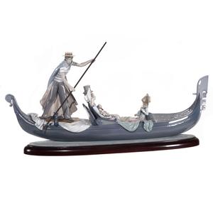 Lladro Porcelain Gondola Group